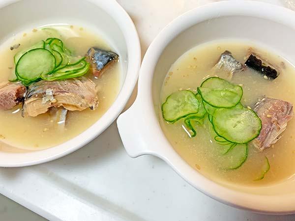 業務スーパー鯖缶のスープ