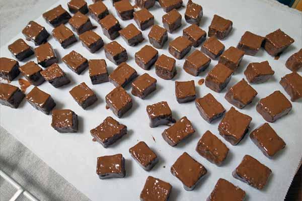 チョコレートでコーティングされたラスク50個くらい