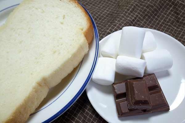 食パンとマシュマロと業務スーパーチョコレート
