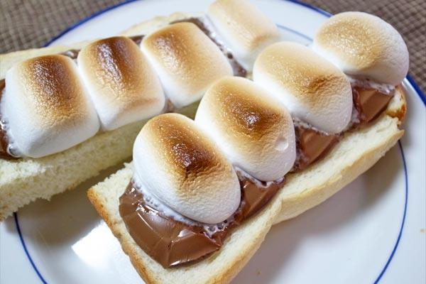チョコマシュマロトーストの完成
