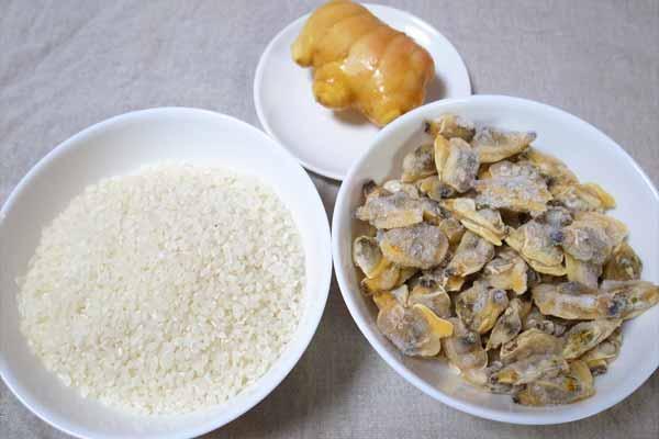 あさりの炊き込みご飯の材料