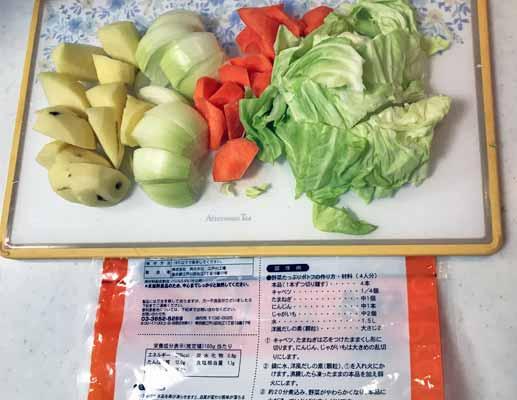 野菜たっぷりポトフの材料