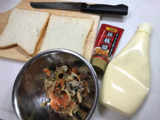 プルコギサンドイッチの材料