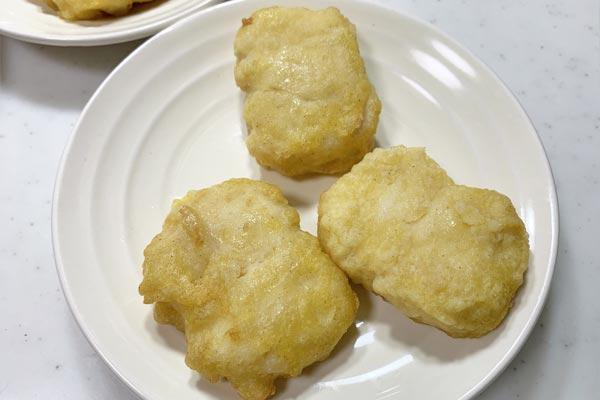 オーブントースターで焼いたチキンナゲット