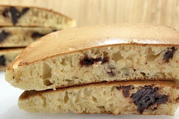 綺麗に焼けたリッチショコラパンケーキ