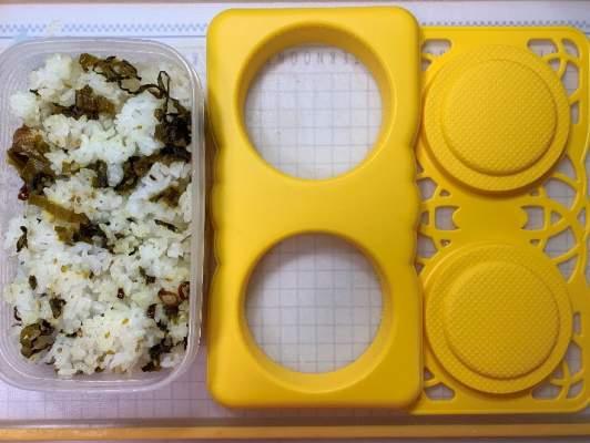 高菜ご飯と型抜きプレート