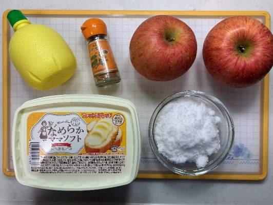 アップルパイの材料