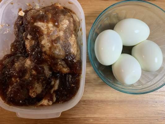 煮卵の材料