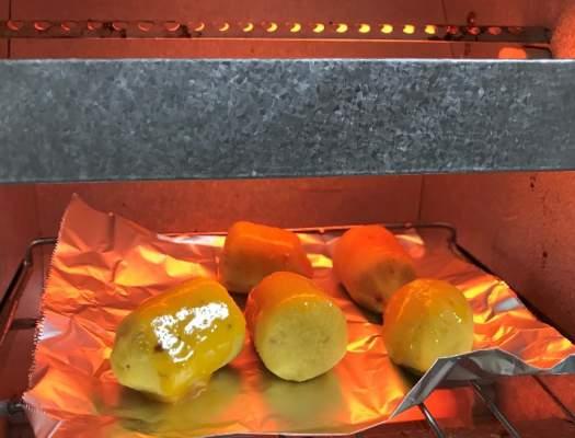 スイートポテトをトースターで焼く