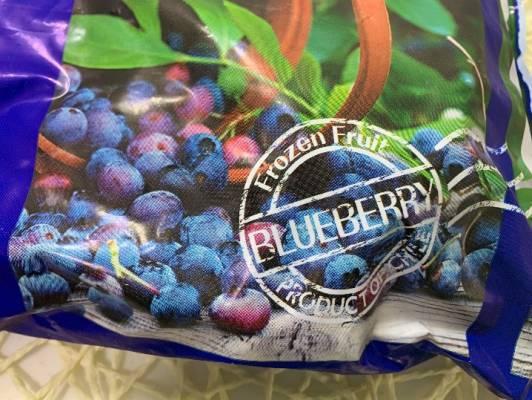 パッケージのブルーベリーの写真