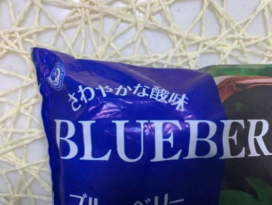 さわやかな酸味と書かれた業務スーパーブルーベリーのパッケージ