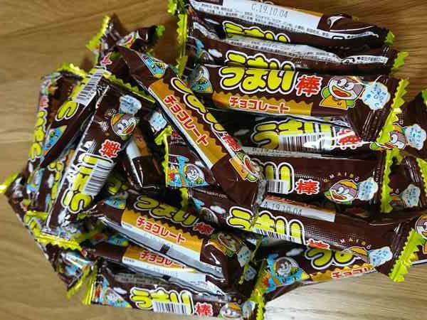 大量のうまい棒チョコレート