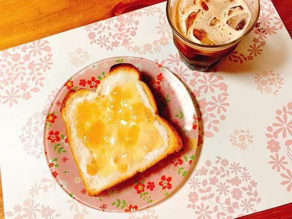 完成したチーズケーキトースト