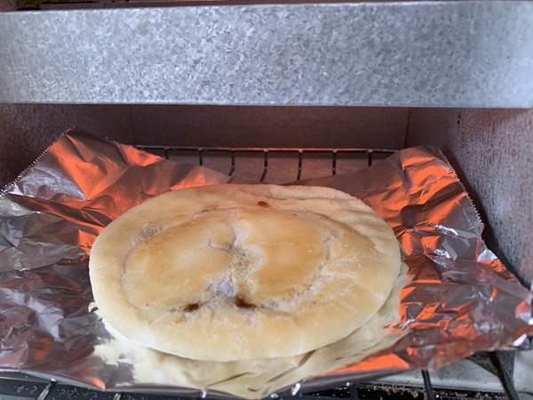 オーブントースターに入れた凍った業務スーパーのホットク