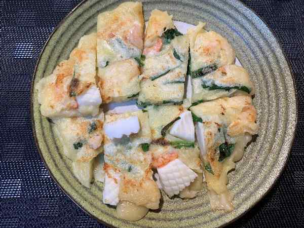 業務スーパーのチヂミ粉で作った海鮮チヂミ