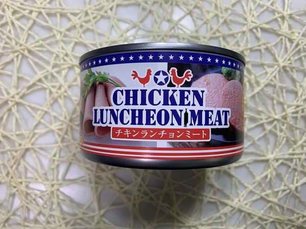 業務スーパーのチキンランチョンミート缶外観