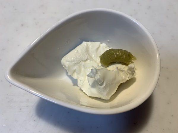 わさびと業務スーパーのクリームチーズ