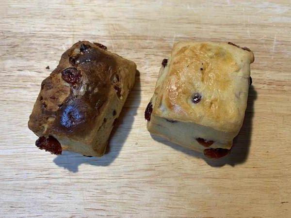 オーブントースターと電子レンジで温めた業務スーパーのスコーン
