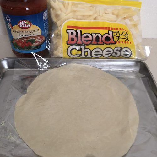 業務スーパーのパラタ・ピザソース・チーズ