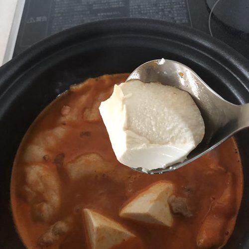 スプーンですくった豆腐