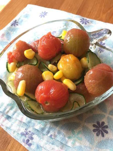 ミニトマトときゅうりのはちみつレモンマリネ