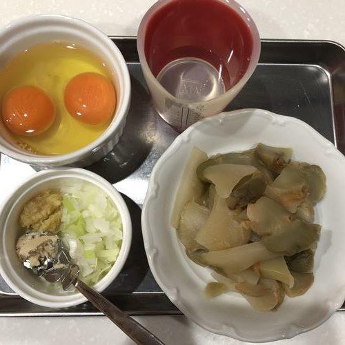 ザーサイの卵炒めの材料