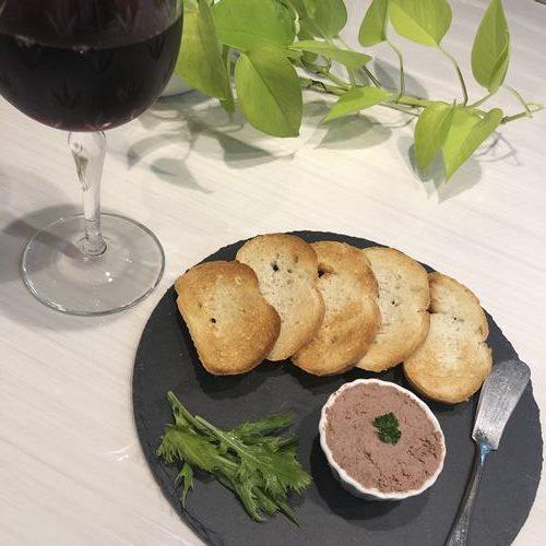 赤ワイン・業務スーパーイベリコ豚のパテとバゲット