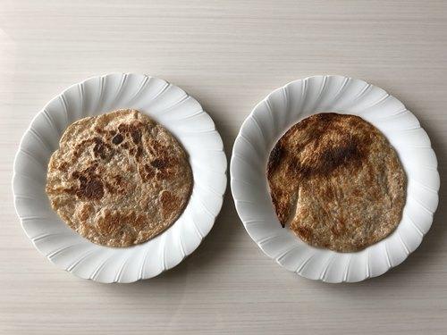 フライパン料理とトースター調理のチャパティ