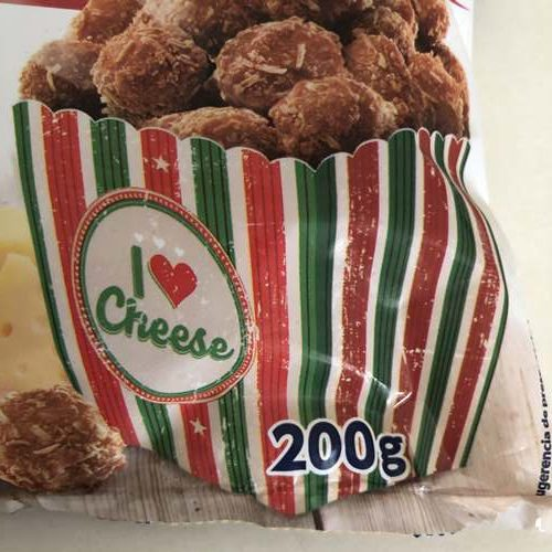 業務スーパーのチーズボールパッケージにある内容量表示