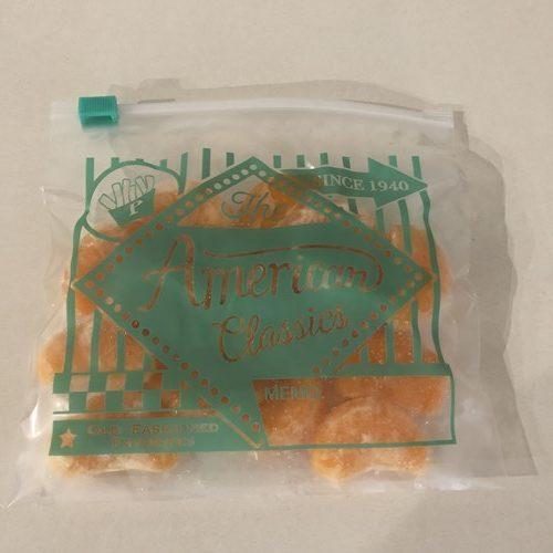 ジッパー付き保存袋に入れた業務スーパーの冷凍みかん