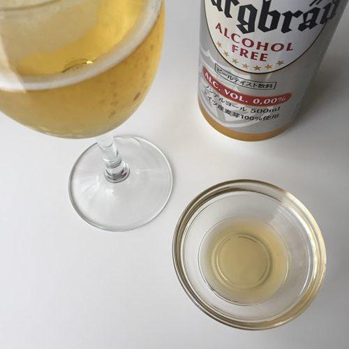 りんご酢ドリンクと業務スーパーのノンアルコールビール