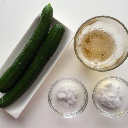 業務スーパーのノンアルコールビールを使う漬け物の材料