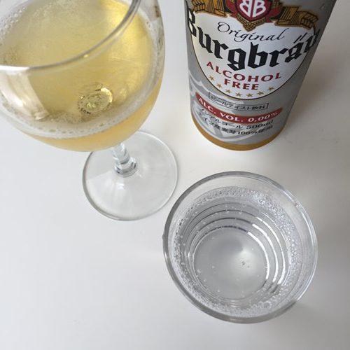 グレープフルーツソーダと業務スーパーのノンアルコールビール