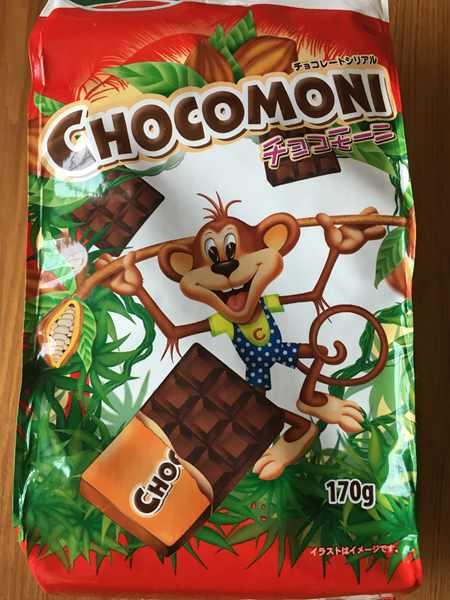 業務スーパーの四角型チョコシリアルのパッケージデザイン