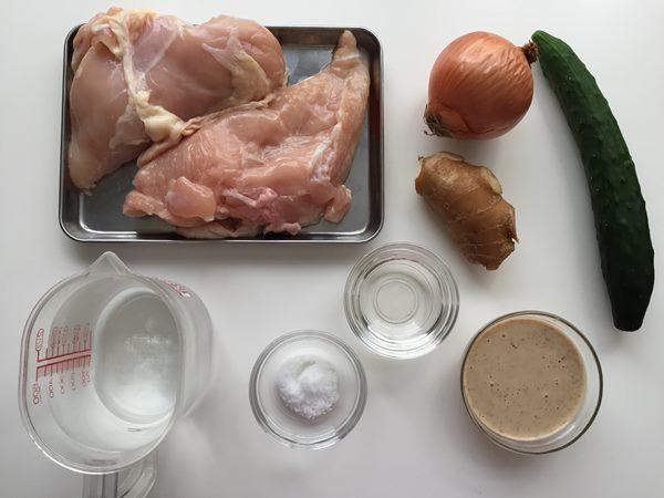 業務スーパー鶏胸肉で作る棒棒鶏の材料