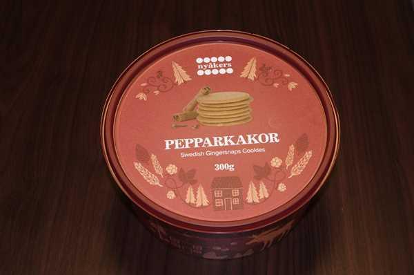 業務スーパーのジンジャークッキー缶蓋のデザイン