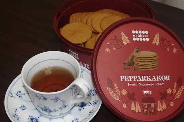 紅茶と業務スーパーのジンジャークッキー