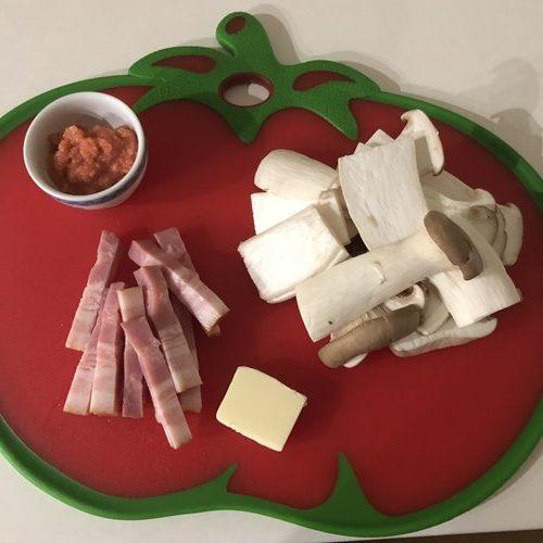 エリンギ明太子バターの材料