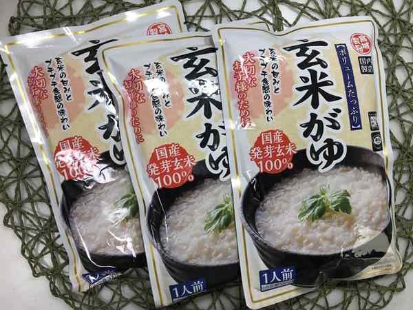 業務スーパーの玄米がゆ3パック