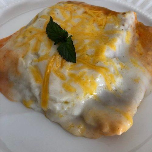ソースとチーズがとろとろで美味しそうな業務スーパーのラザニア
