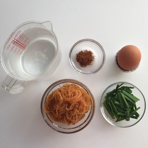麻婆春雨スープの材料