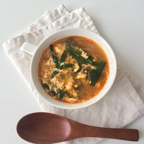 業務スーパーの麻婆春雨で作ったピリ辛スープ