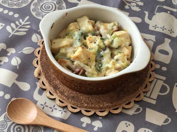 豆腐とたけのこのネギ味噌チーズ焼き完成品