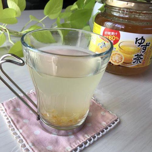 業務スーパーのゆず茶で作ったホットドリンク