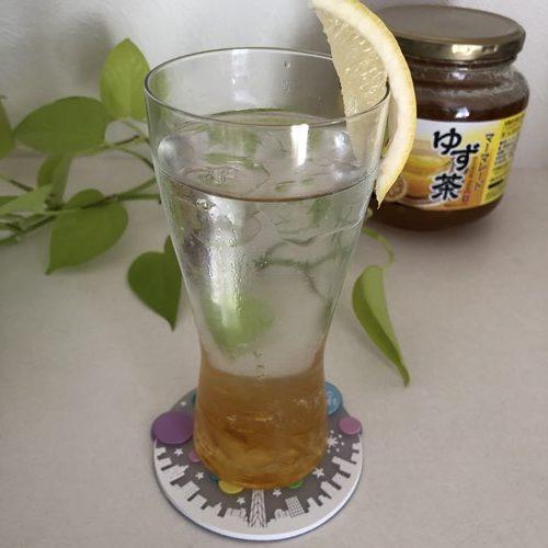 業務スーパーゆず茶の炭酸割