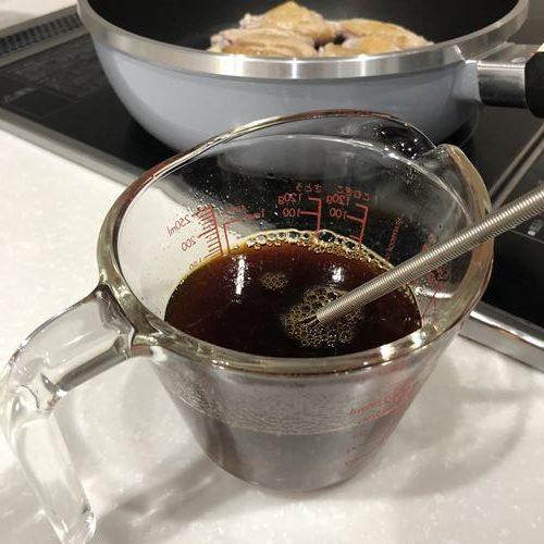 調味料と業務スーパーのゆず茶混ぜたタレ