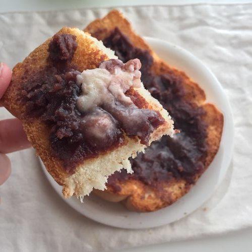 業務スーパーのイギリスパンを使ったあんバタートースト