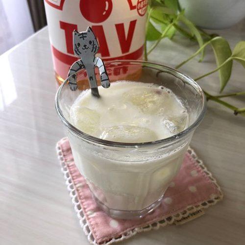 業務スーパーのりんご酢を使った牛乳割