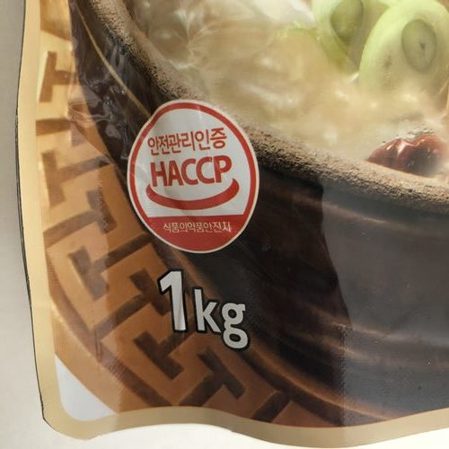 業務スーパーのサムゲタンパッケージにある内容量表示