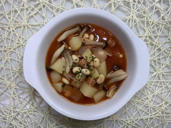 業務スーパーのトマトジュース入りスープ完成品